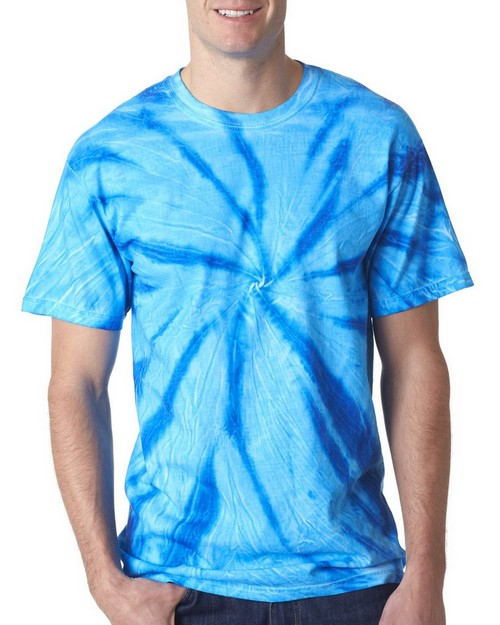 Gildan Tie-Dyes 68 Adult Neon One-Color Pinwheel Tee