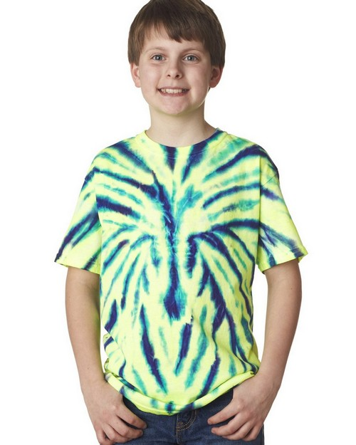 Gildan Tie-Dyes 93B Youth Cotton Spider Tee