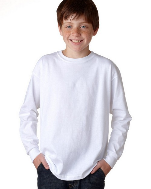 Gildan 2400B Youth Ultra Cotton Long Sleeve T Shirt