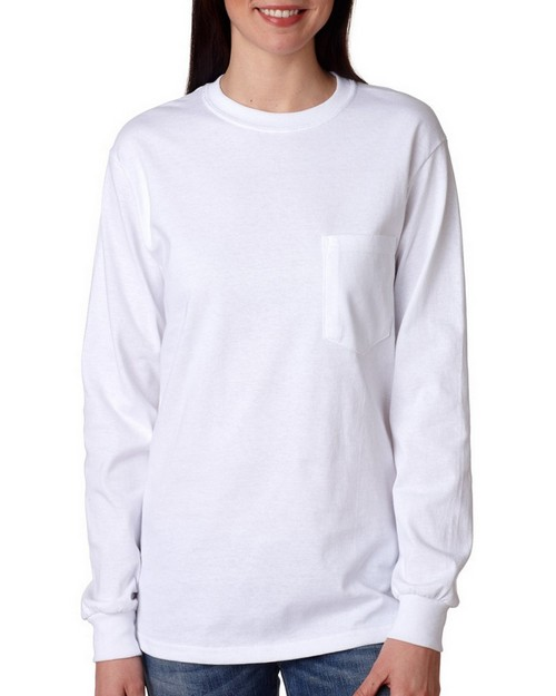 Gildan 2410 Long-Sleeve Pocket Tee
