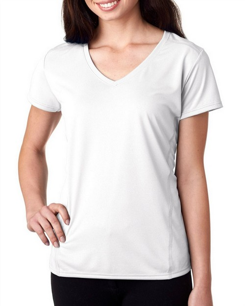 Gildan 47V00L Performance Ladies' V-Neck Tech T-Shirt
