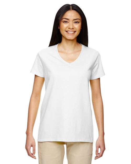 Gildan 5V00L Heavy Cotton Ladies V Neck T Shirt