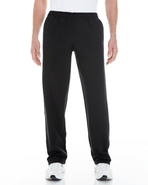 Gildan G183 Adult Heavy Blend 8 oz. Open-Bottom Sweatpants with Pockets