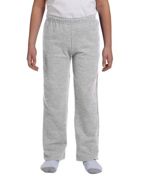 Gildan G184B Youth 50/50 Open-Bottom Sweatpants