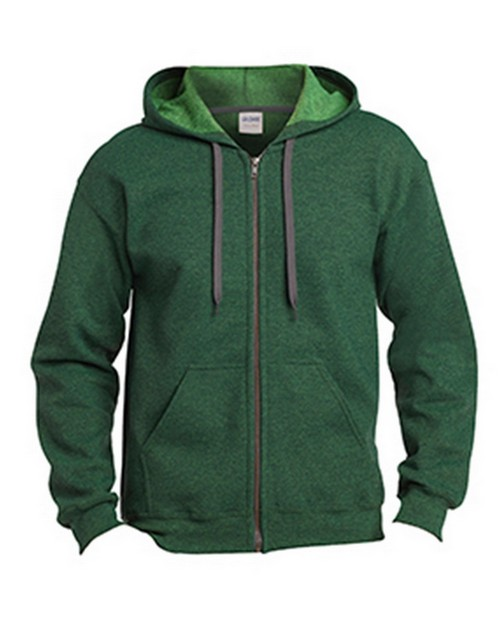 Gildan G18700 Heavy Blend Adult Vintage Full Zip Hooded Sweatshirt