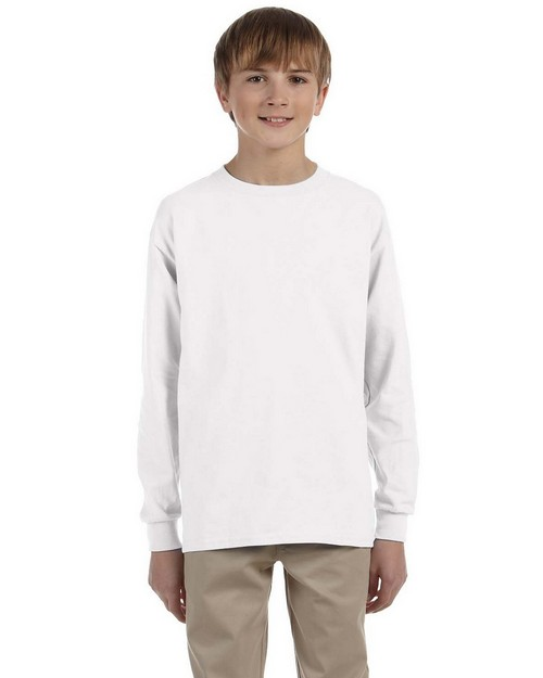 Gildan G240B Youth Ultra Cotton Long Sleeve T Shirt