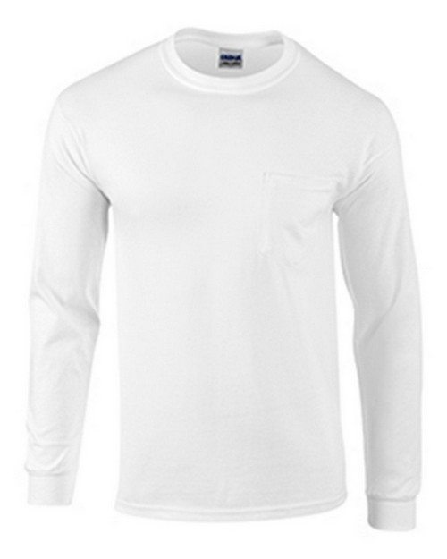 Gildan G2410 Ultra Cotton Adult Long Sleeve Tee With Pocket
