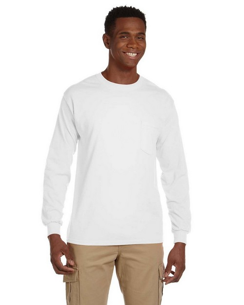 Gildan G241 Ultra Cotton Long Sleeve Pocket T Shirt