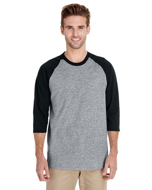 Gildan G5700 Heavy Cotton Adult 3/4 Raglan Tee