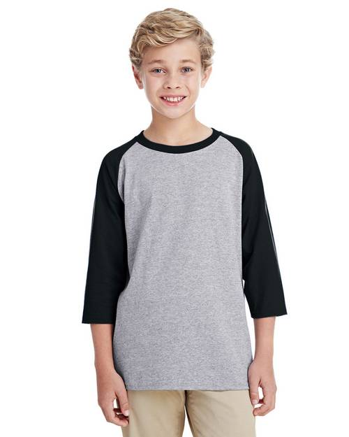 Gildan G570B Youth 3/4 Raglan Sleeve T-Shirt