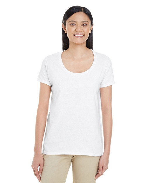 Gildan G6455L Ladies Softstyle 4.5 oz. Deep Scoop T-Shirt
