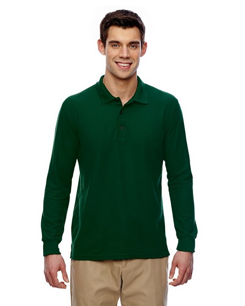 Gildan G729 Drybelnd Double Pique Long-Sleeve Polo