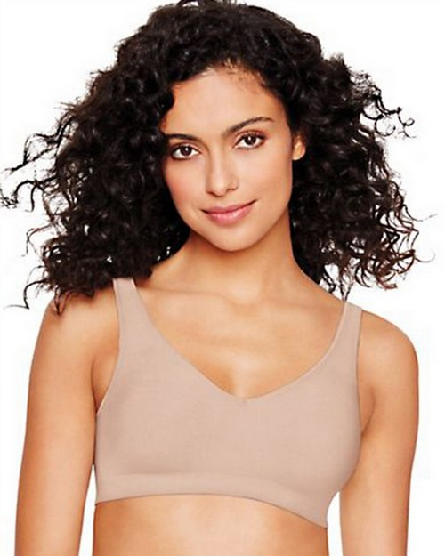 Hanes Ultimate HU04 Smooth Inside and Out ComfortFlex Fit Wirefree Bra