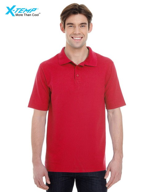 Hanes 055P Mens X-Temp Piqué Short-Sleeve Polo with Fresh IQ
