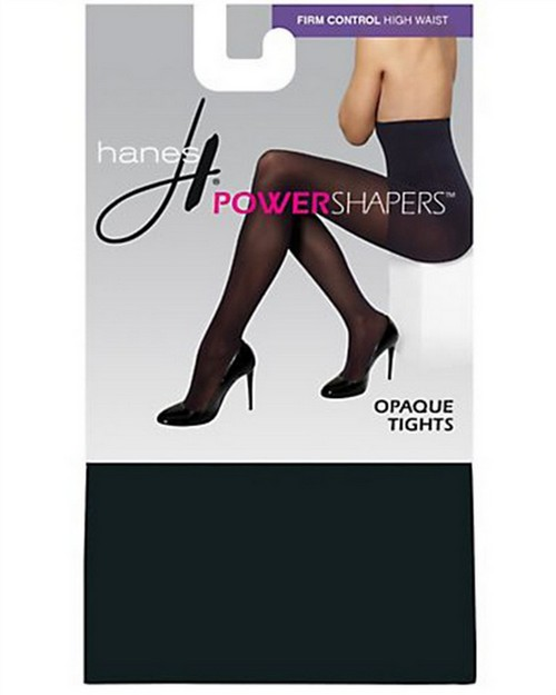 Hanes 0B989 Womens Firm Control High Waist Power Shapers Opaque Tights