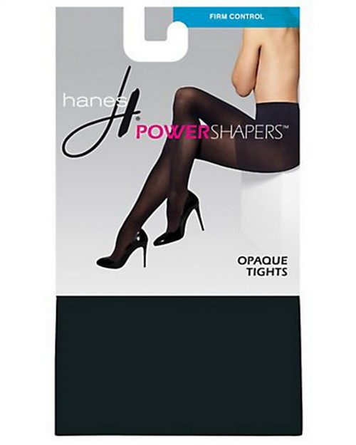 Hanes 0B990 Womens Firm Control Power Shapers Opaque Tights