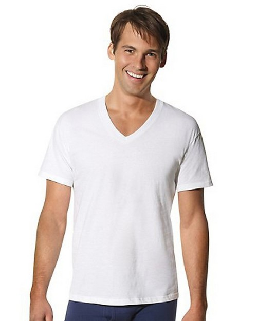 Hanes 115HNT Mens Tall Tagless ComfortSoft V-Neck Undershirt (Pack Of 3)