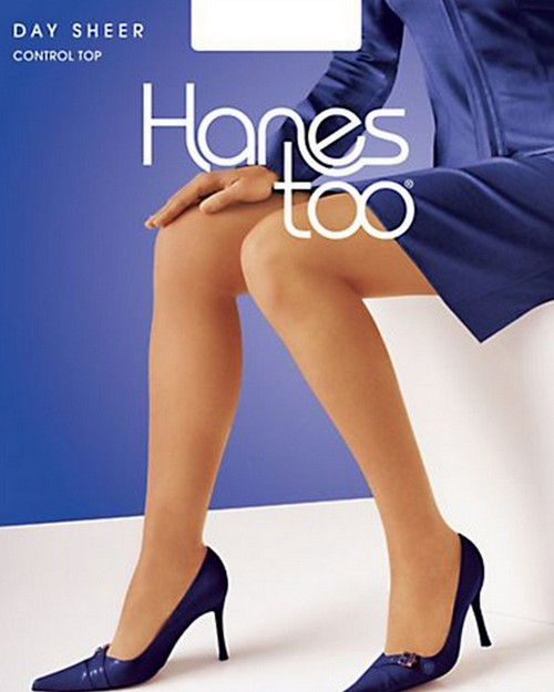 Hanes 136 Too Day Sheer Control Top Reinforced Toe Pantyhose
