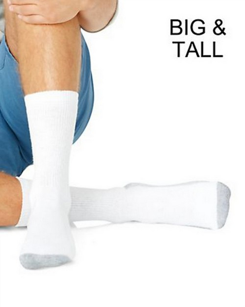 Hanes 144 Big and Tall Crew Socks (Pack of 6)