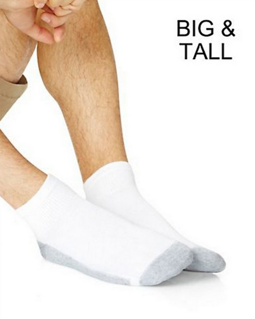 Hanes 145 Big and Tall Ankle Socks (Pack of 6)