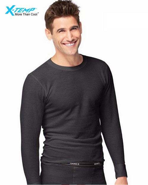 Hanes 14600 X-Temp Mens Organic Cotton Thermal Crew 3x-4x