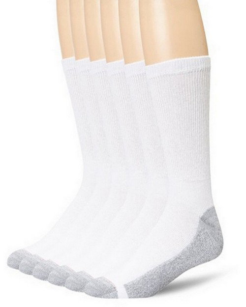 Hanes 184 Cushion Crew Socks (Pack of 6)