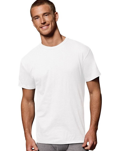Hanes 2135M1 Mens Fresh IQ Cotton/Modal Crew Neck T-Shirt P1