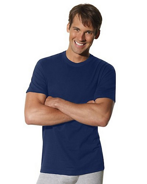 Hanes 2165NX RL Comfortsoft Dyed Crew Military Navy