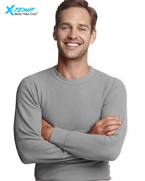Hanes 25444 Mens X-Temp Thermal Crew