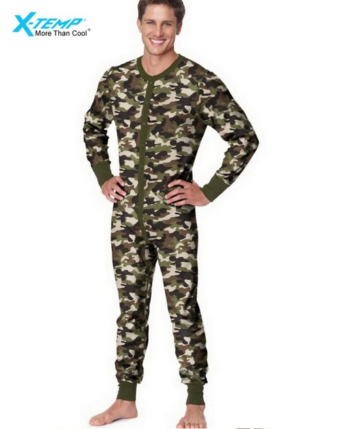 Hanes 25448 Mens X-Temp Camo Thermal Union Suit