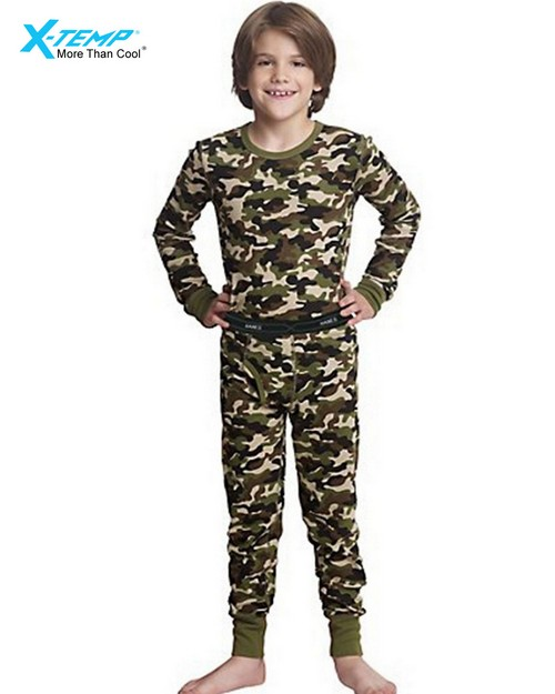 Hanes 25450 Boys X-Temp Camo Thermal Set