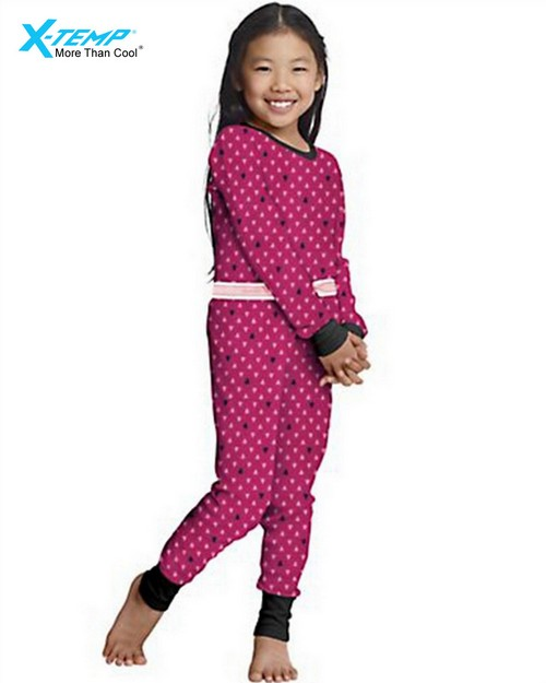Hanes 25453 Girls X-Temp Printed Thermal Set