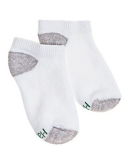 Hanes 434 Boys No Show Comfortblend White EZ Sort Socks 6-Pack