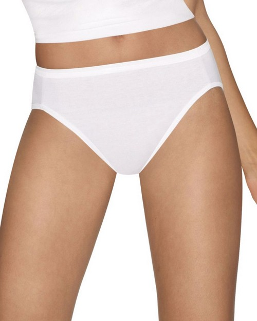 Hanes 43HUCC Ultimate Comfort Cotton Hi-Cut Panties 5-Pack