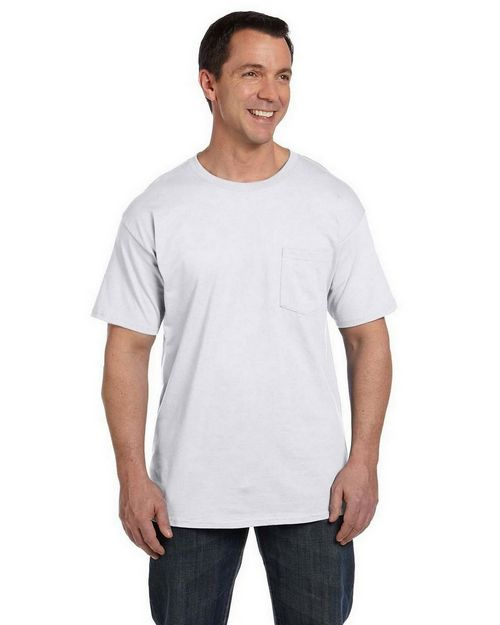 Hanes 5190P Ringspun Cotton Beefy T -Shirt with Pocket