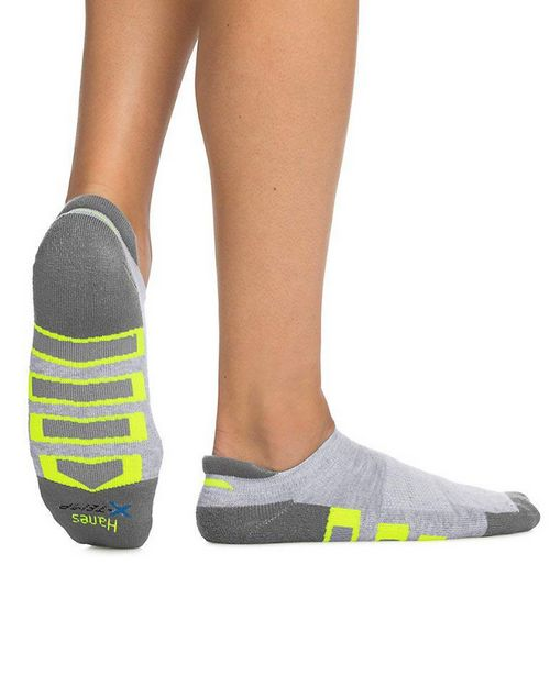 Hanes 534WBP4 Mens X-Temp Active Cool Heel Shield Socks 4-Pack