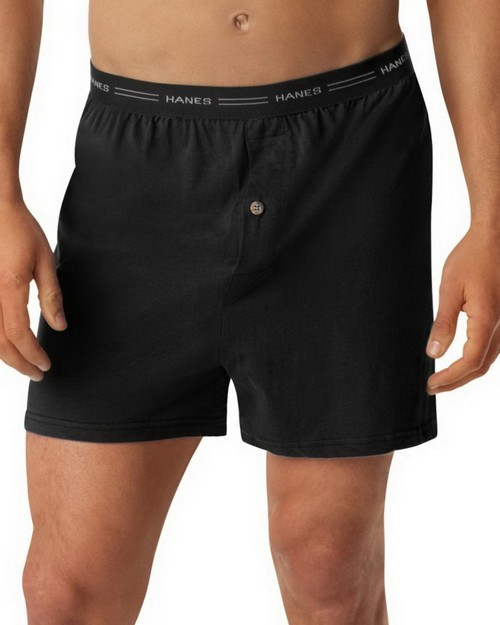 Hanes 548BX5 Mens ComfortSoft Knit Boxer with Comfort Flex Waistband (Pack of 5)