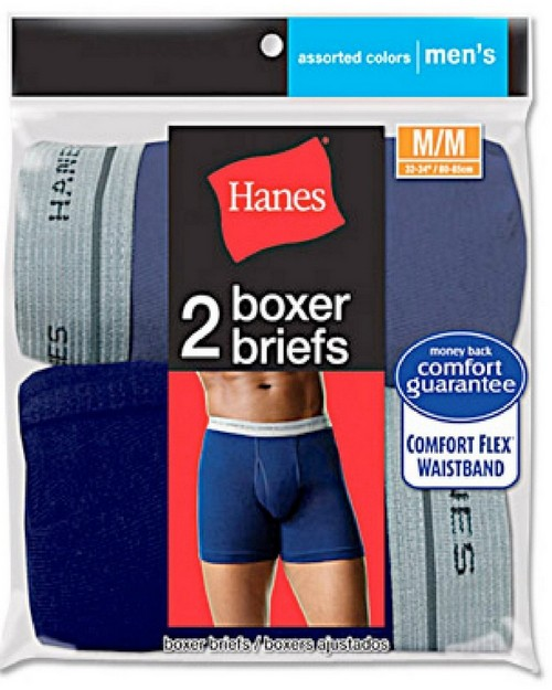 Hanes 7349VT Mens Assorted Blues Boxer Brief (Pack of 2)