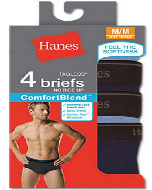 Hanes 7500P4 RL ComfortBlend Dyed Brief (Pack of 4)