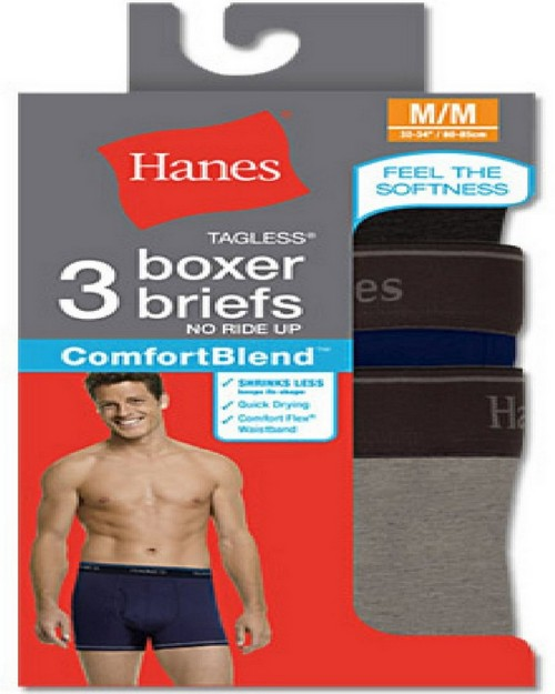 Hanes 7549P3 RL ComfortBlend Boxer Brief (Pack of 3)