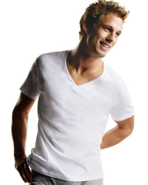 Hanes 777X Big Mens V-Neck T