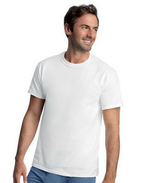 Hanes 7870W3 Classics Mens Traditional Fit ComfortSoft Crewneck Undershirt 3 Pack