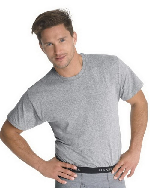 Hanes 7873BG Classics Mens Traditional Fit Crewneck Undershirt 3-Pack