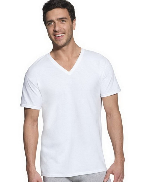 Hanes 7880W5 Classic Big Mens V Neck T Shirt P5
