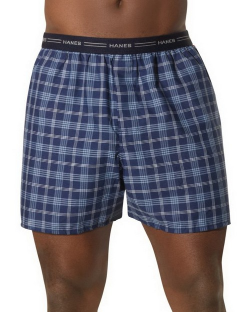 Hanes 841BX5B Big Mans Yarn Dyed Plaid Boxer 5 Pack
