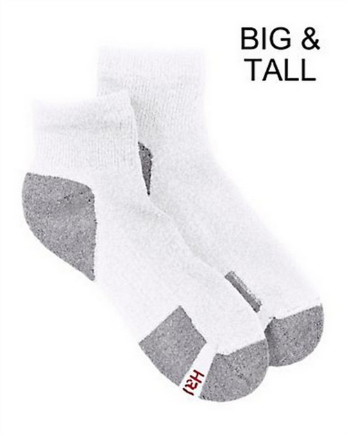 Hanes 9116P Mens Big and Tall ComfortBlend Ankle Socks (Pack Of 6)