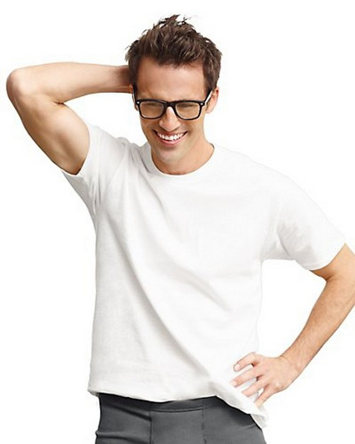 Hanes 9856W4 Classics Mens Tall Man Traditional ComfortSoft Tagless Crewneck Undershirt (Pack Of 4)
