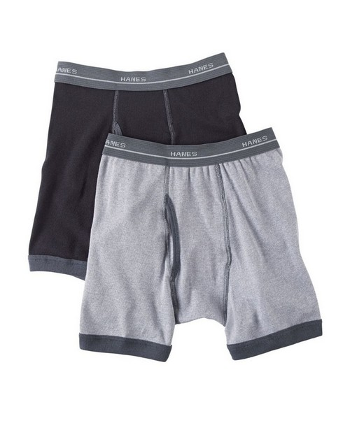 Hanes B747R5 Boys Ringer Boxer Brief (Pack of 5)