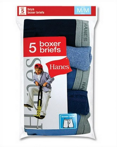 Hanes B749B5 Boys Boxer Brief