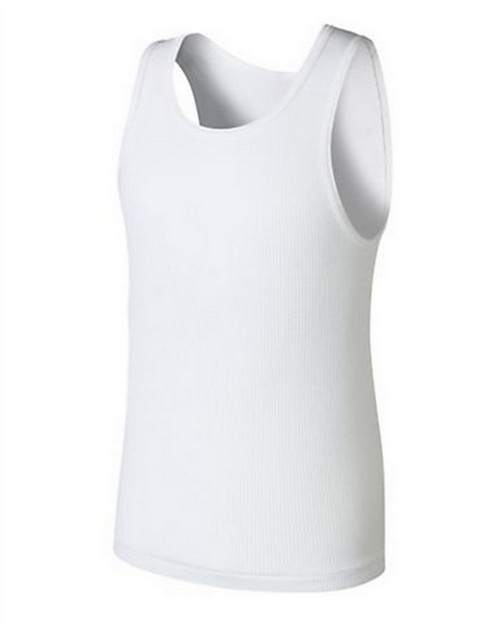 Hanes BU372C Boys Ultimate ComfortSoft White Tank Undershirt 5-Pack